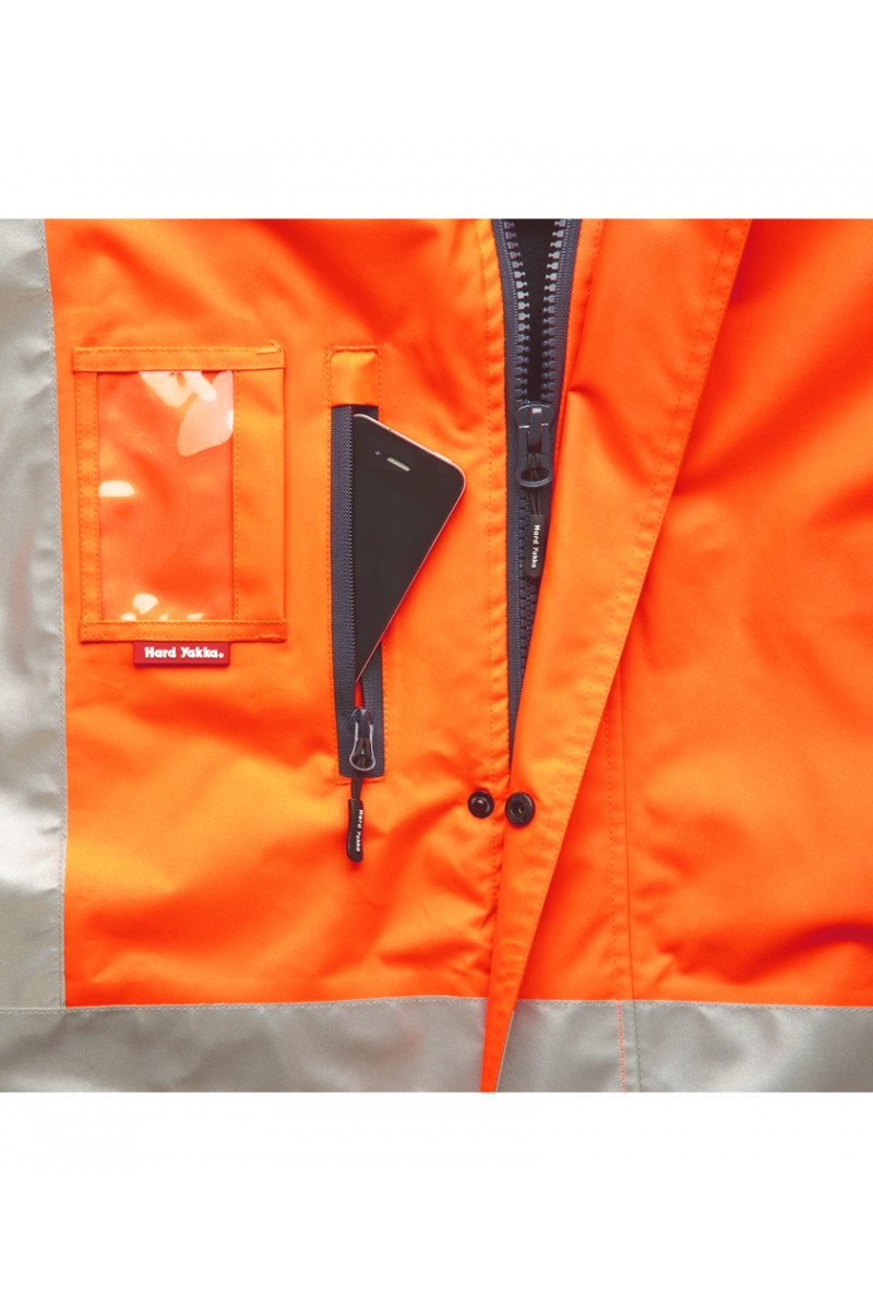 4 In 1 Jacket With 3M 8912 Tape Orange/Navy